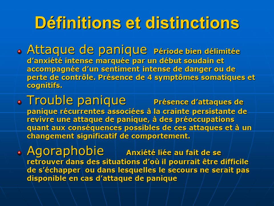 Définitions et distinctions
