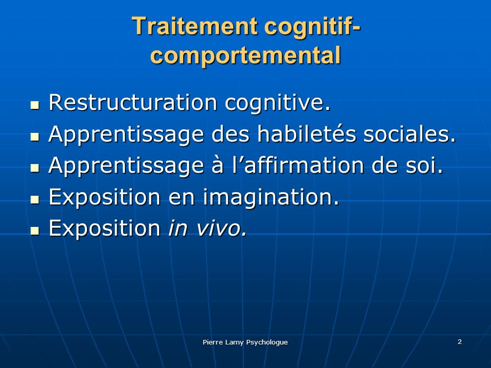 Traitement cognitif-comportemental