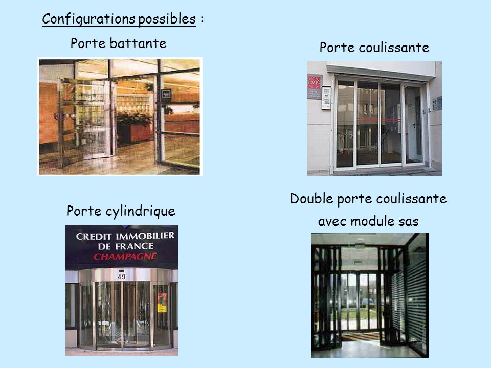 Configurations possibles :