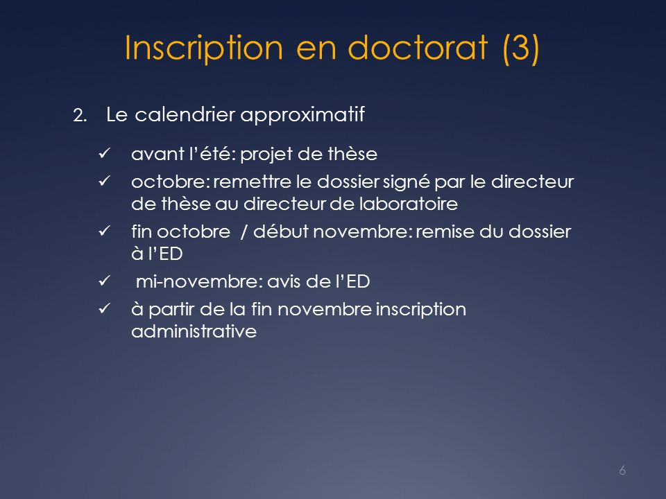 Inscription en doctorat (3)