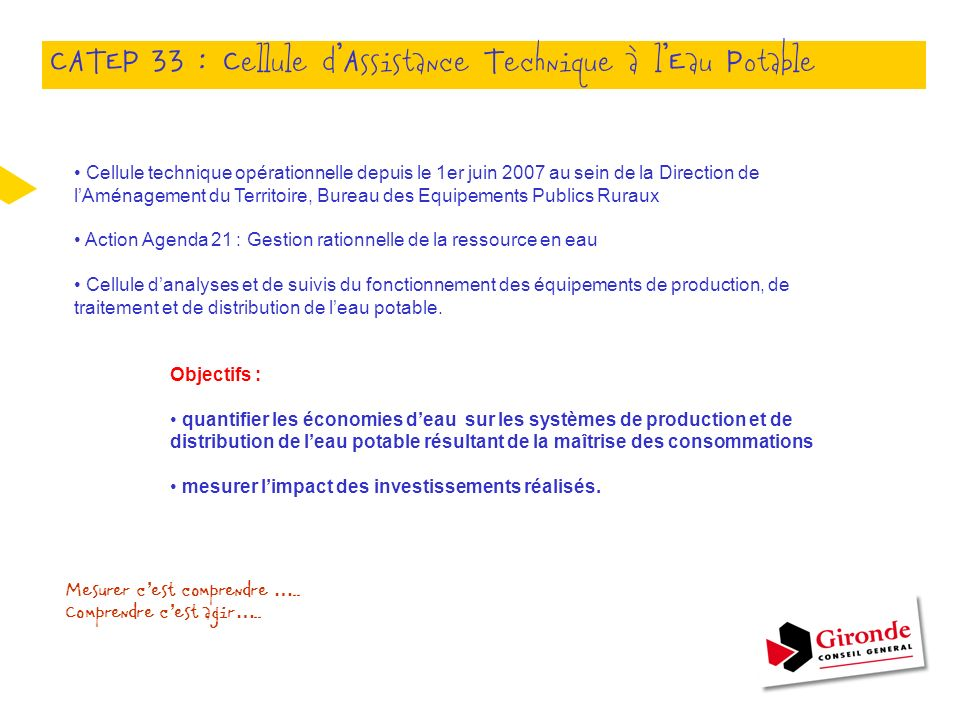 CATEP 33 : Cellule d'Assistance Technique à l'Eau Potable