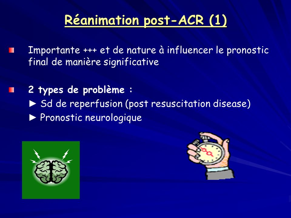 Réanimation post-ACR (1)