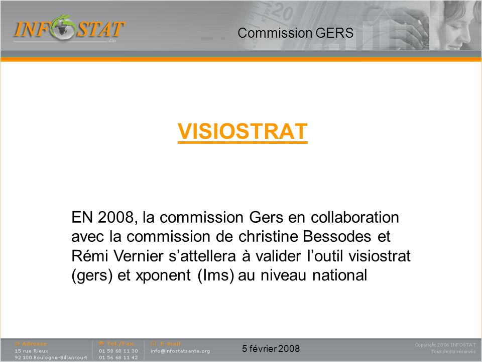 Commission GERS VISIOSTRAT.