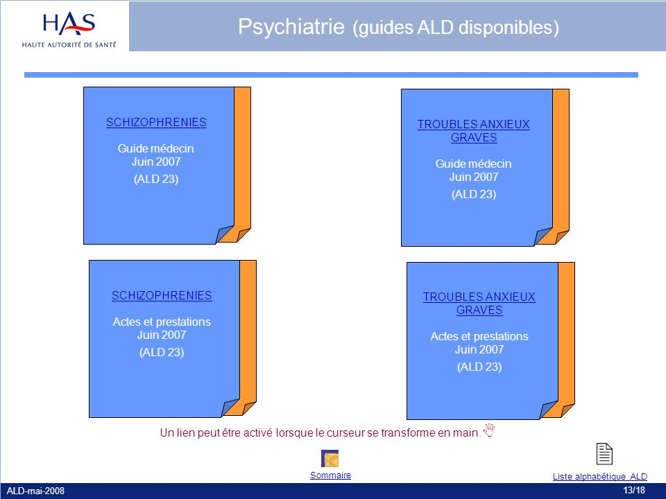  Psychiatrie (guides ALD disponibles) SCHIZOPHRENIES
