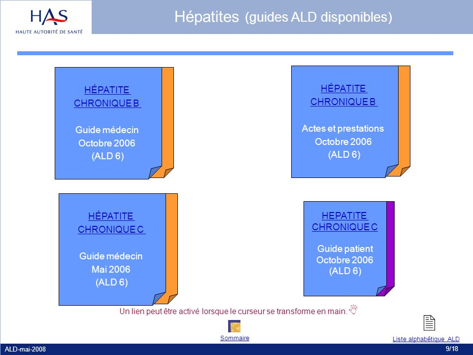 Hépatites (guides ALD disponibles)