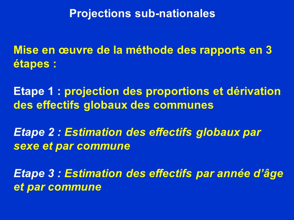 Projections sub-nationales
