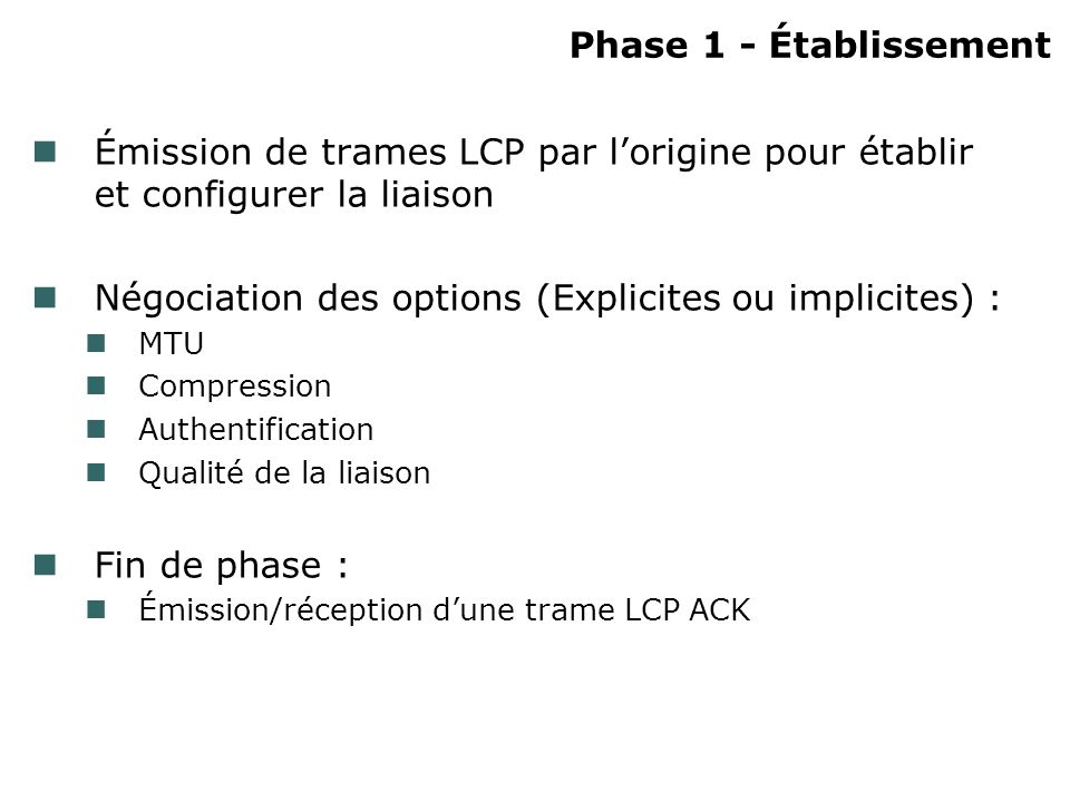 Négociation des options (Explicites ou implicites) :