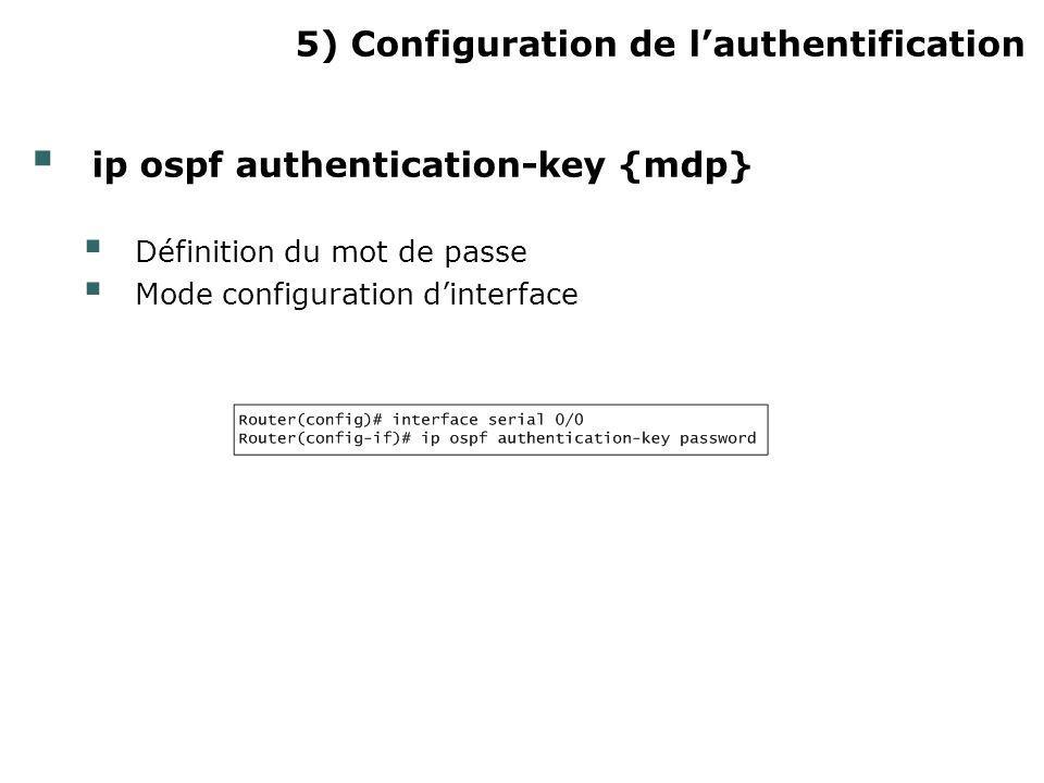 5) Configuration de l'authentification