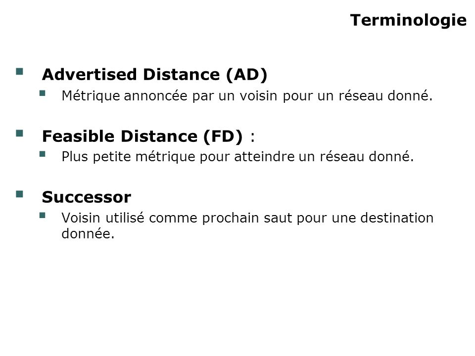 Advertised Distance (AD)‏