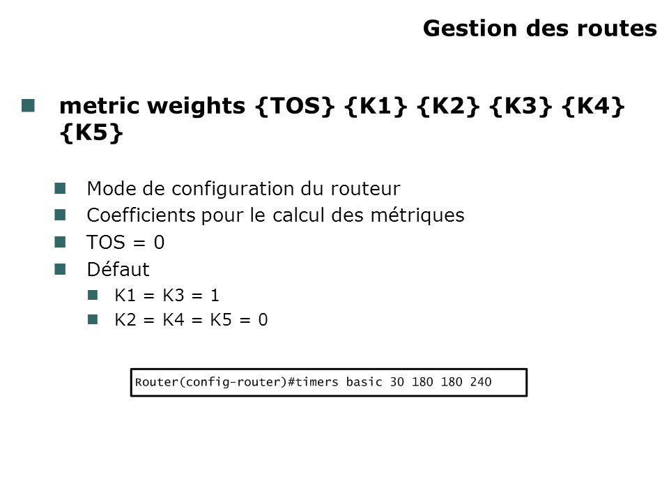 metric weights {TOS} {K1} {K2} {K3} {K4} {K5}