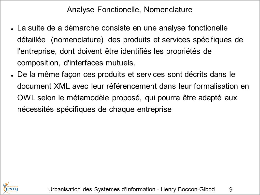 Analyse Fonctionelle, Nomenclature