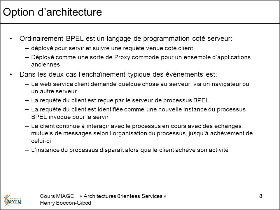 Option d'architecture