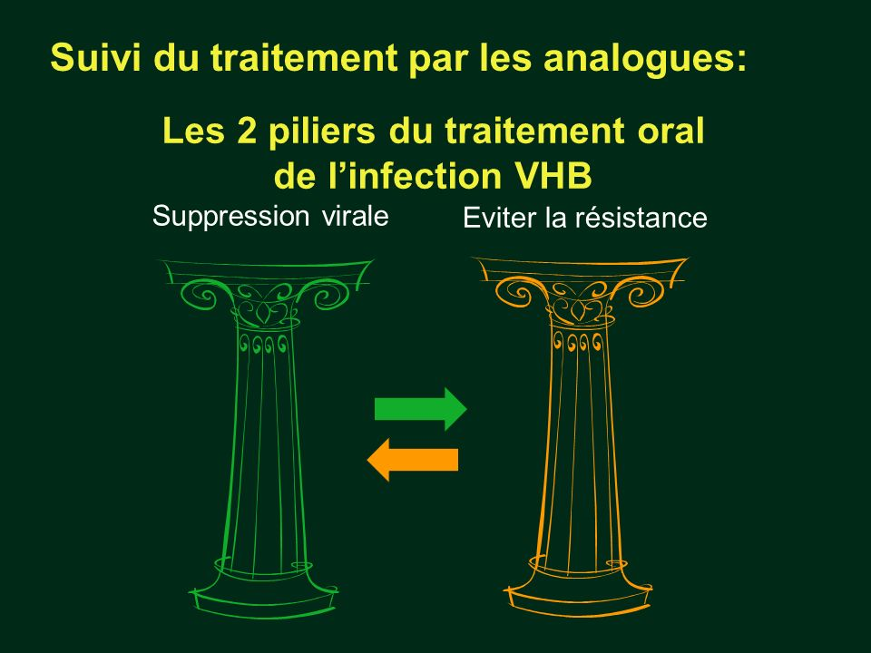Les 2 piliers du traitement oral de l'infection VHB