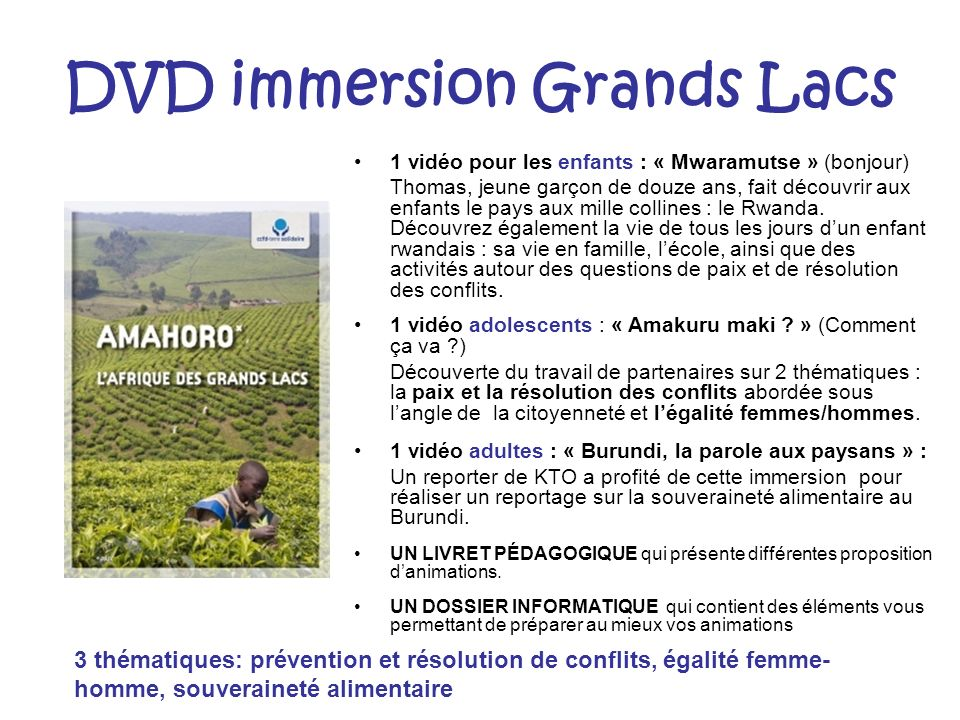 DVD immersion Grands Lacs