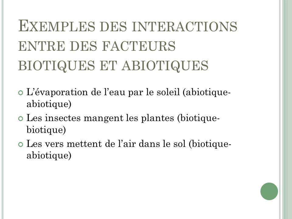 module 1 - les interactions au sein des  u00e9cosyst u00e8mes
