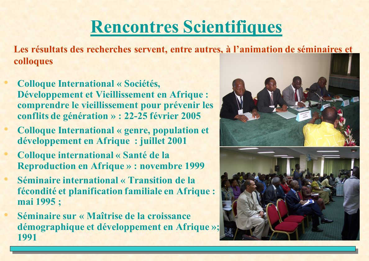 Rencontres scientifiques nationales bron