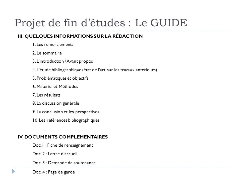 Projet De Fin D études Guide De L étudiant Ppt Video