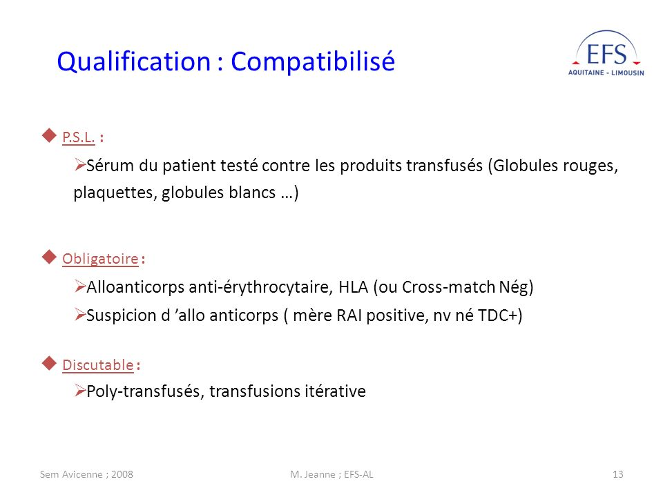 Qualification : Compatibilisé