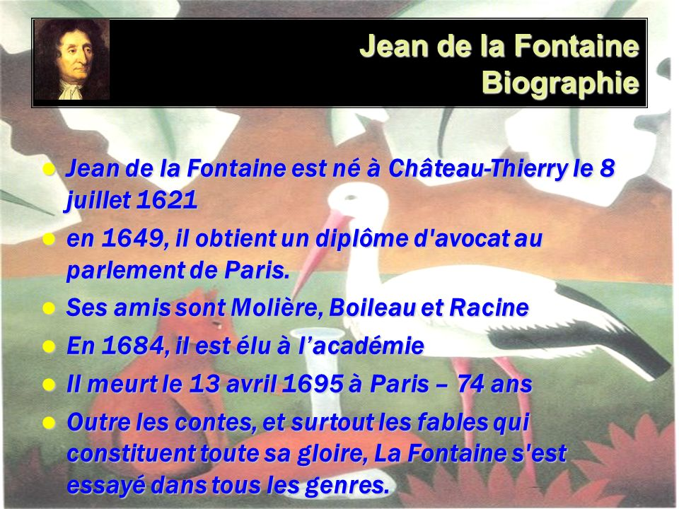 Jean de la Fontaine Biographie