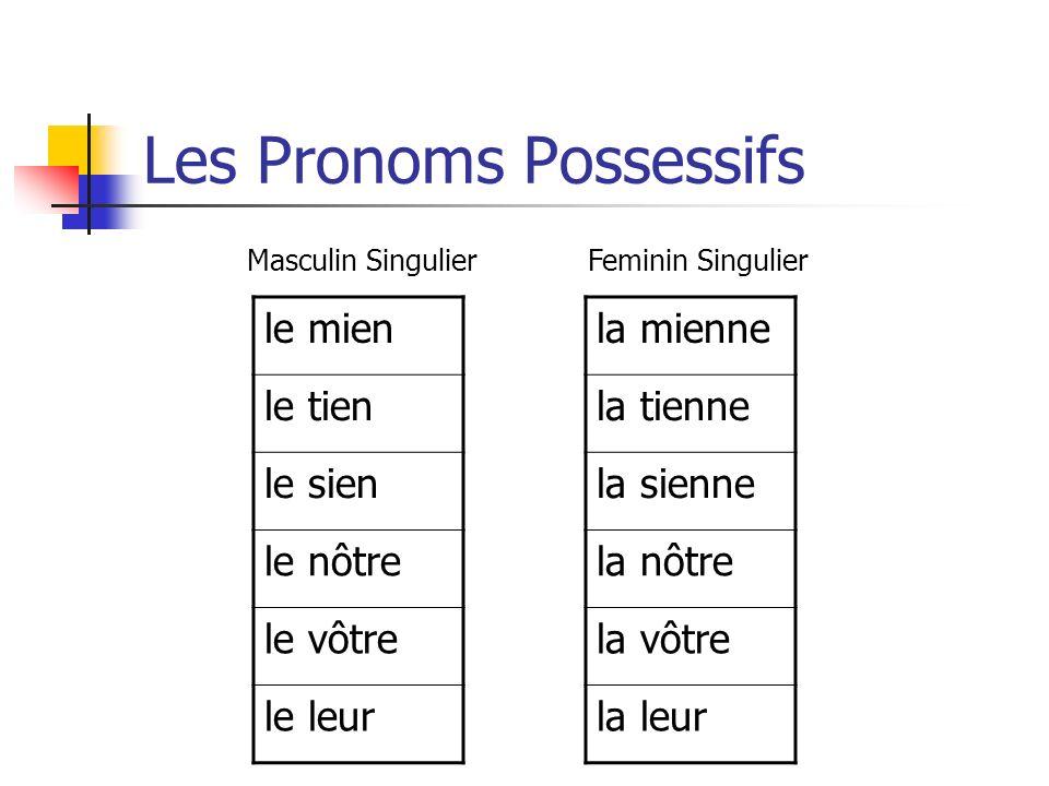 Les Adjectifs Et Pronoms Possessifs Ppt Video Online Telecharger