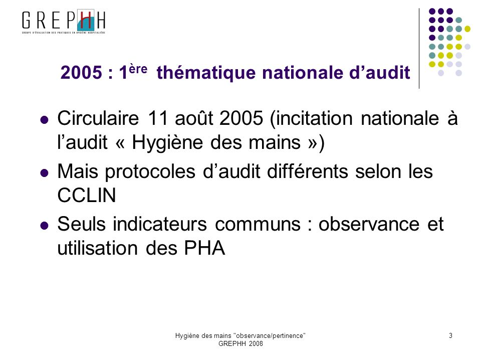 2005 : 1ère thématique nationale d'audit