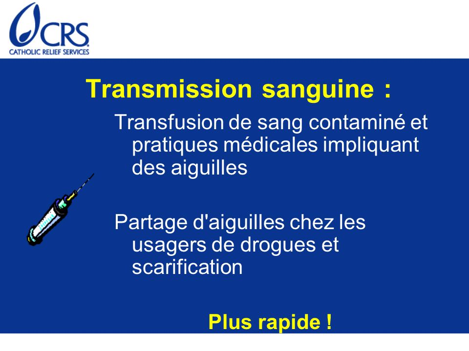Transmission sanguine :