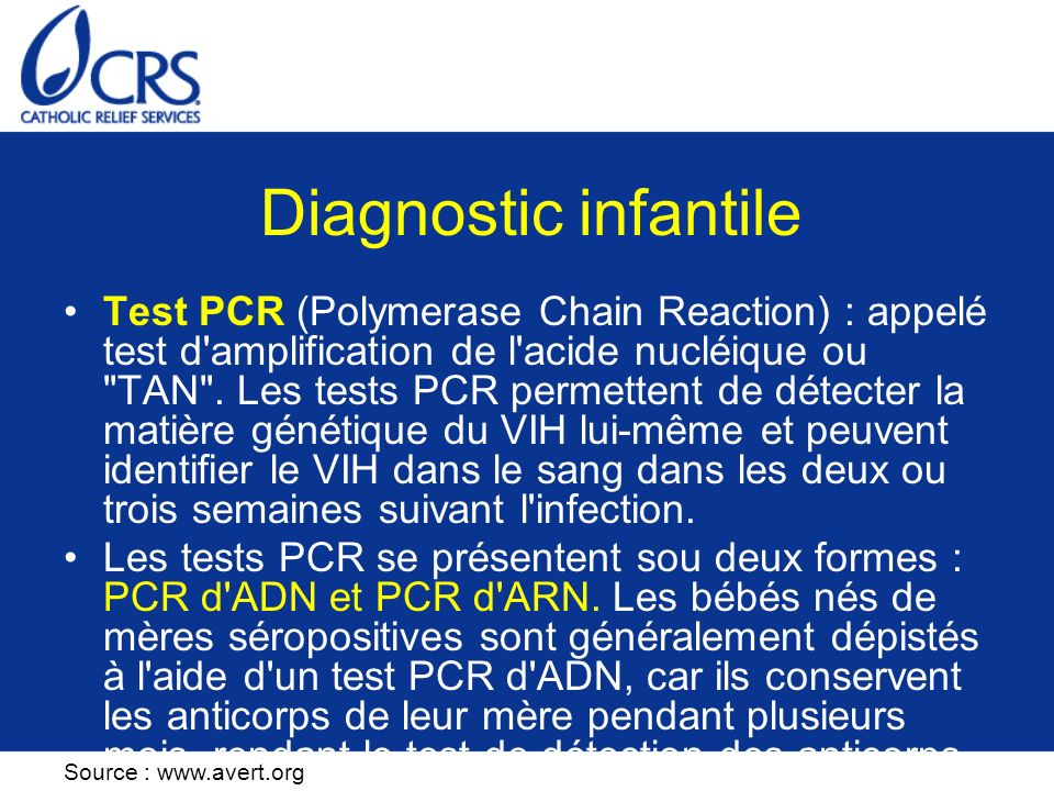 Diagnostic infantile