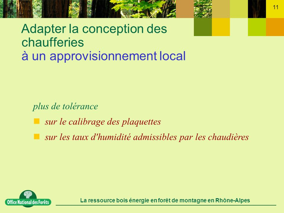 Adapter la conception des chaufferies à un approvisionnement local