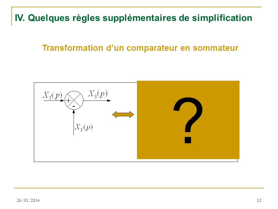 Transformation d'un comparateur en sommateur