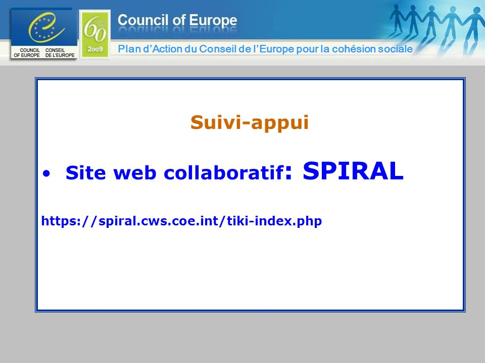 Site web collaboratif: SPIRAL