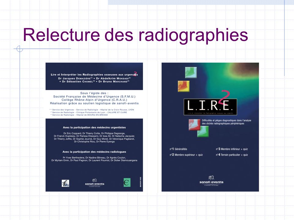 Relecture des radiographies