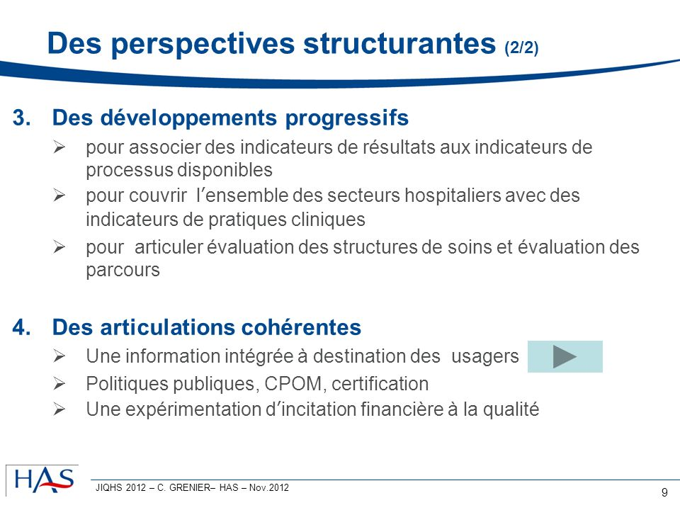 Des perspectives structurantes (2/2)