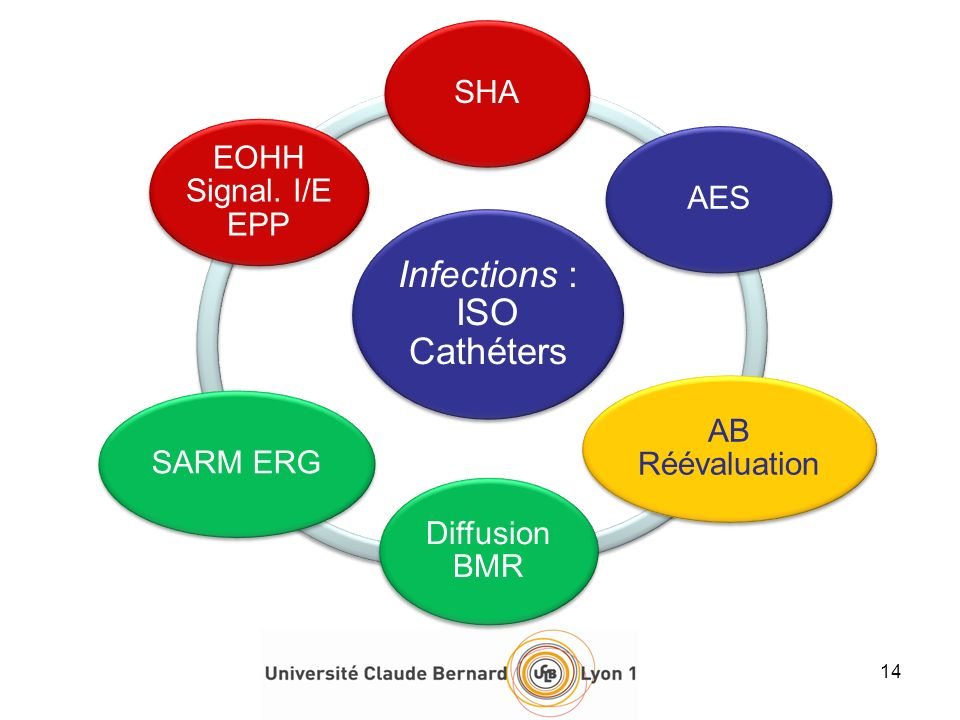 Infections : ISO Cathéters