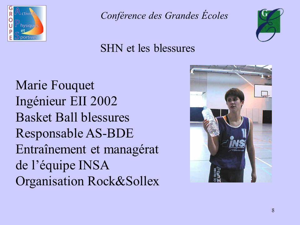 Basket Ball blessures Responsable AS-BDE