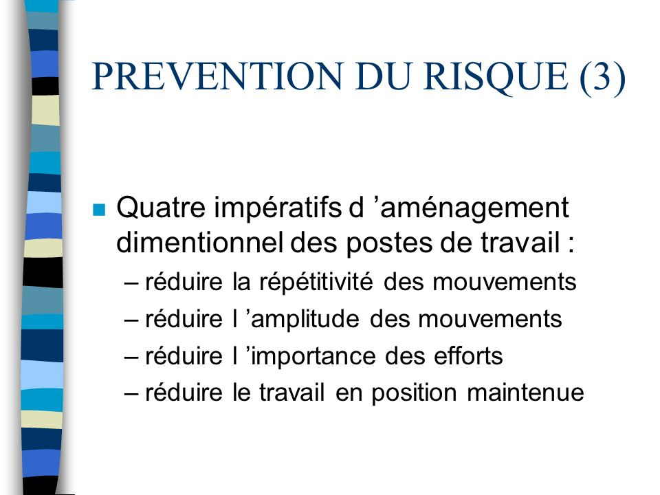 PREVENTION DU RISQUE (3)