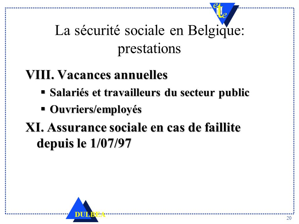 9aea6bf2743 La sécurité sociale en Belgique Caractéristiques et défis - ppt ...