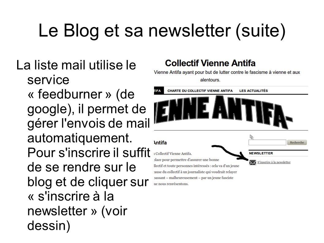 Le Blog et sa newsletter (suite)