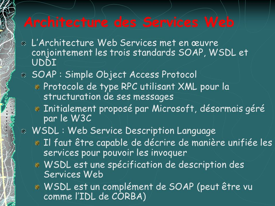 Architecture des Services Web