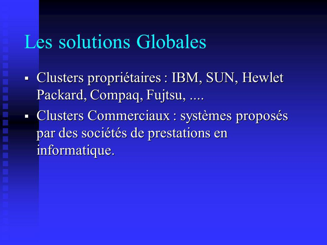 Les solutions Globales