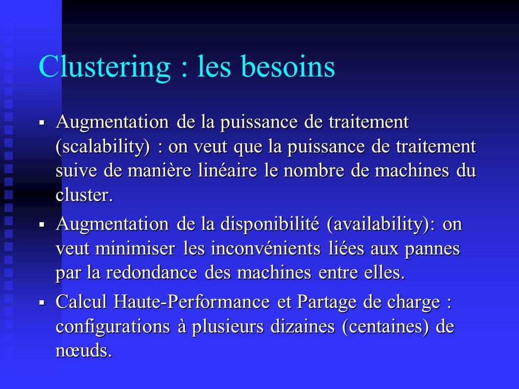 Clustering : les besoins
