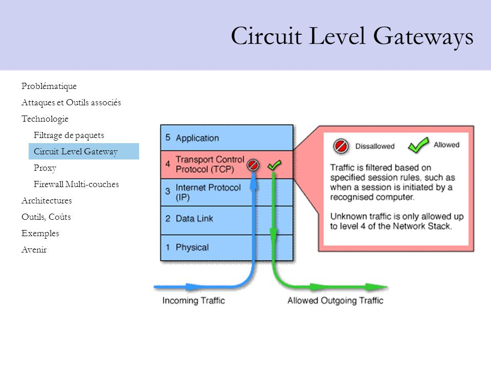 Circuit Level Gateways
