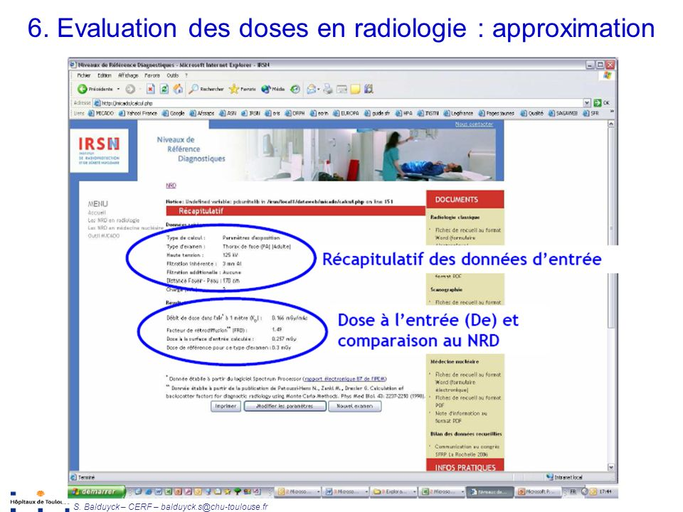 6. Evaluation des doses en radiologie : approximation