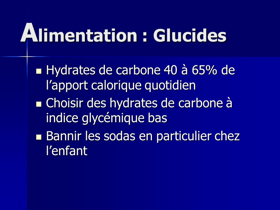 Alimentation : Glucides