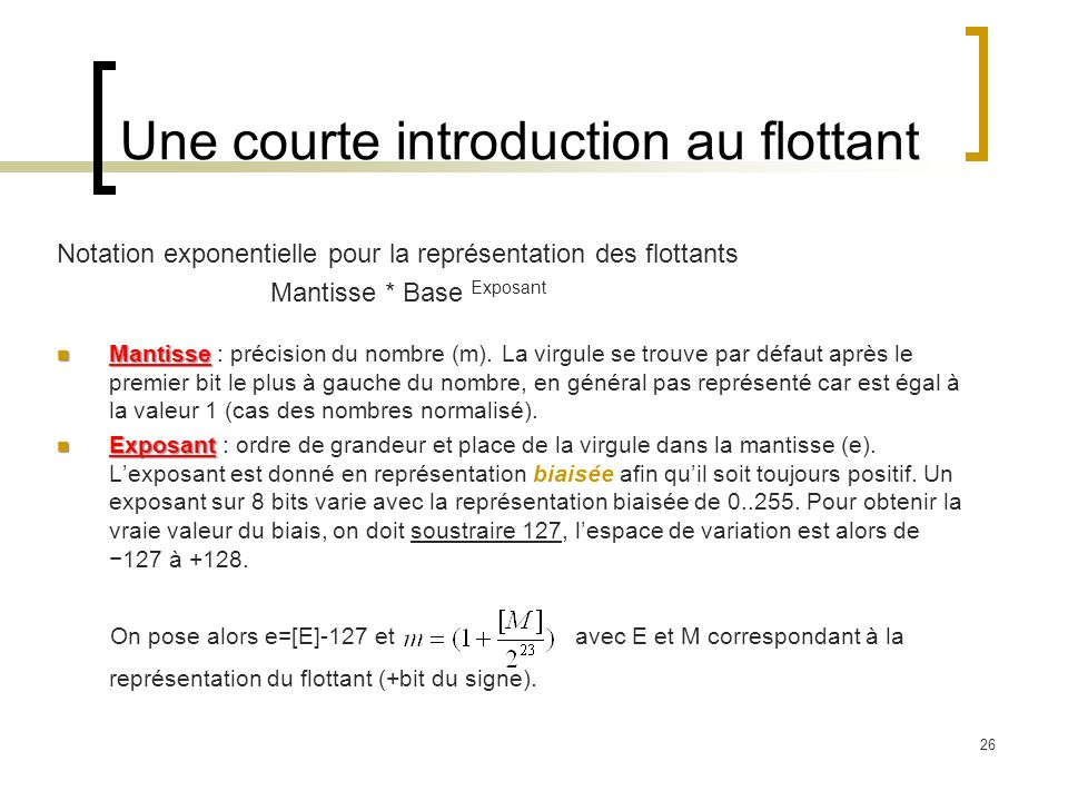 Une courte introduction au flottant