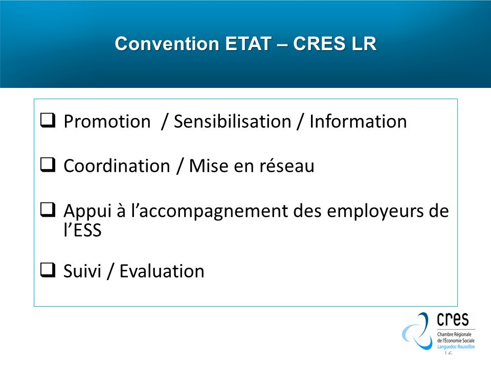 Convention ETAT – CRES LR