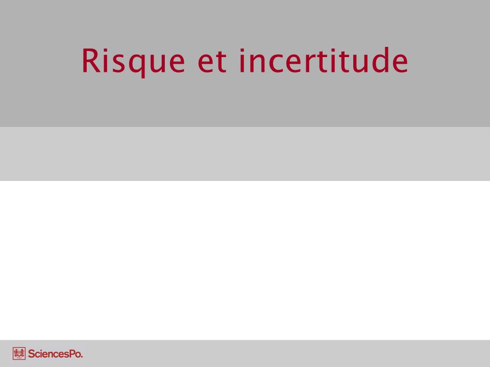 Risque et incertitude