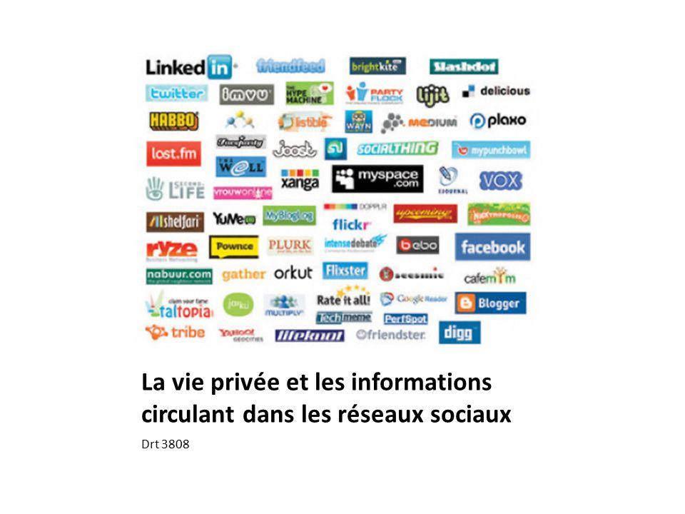 la vie priv u00e9e et les informations circulant dans les r u00e9seaux sociaux