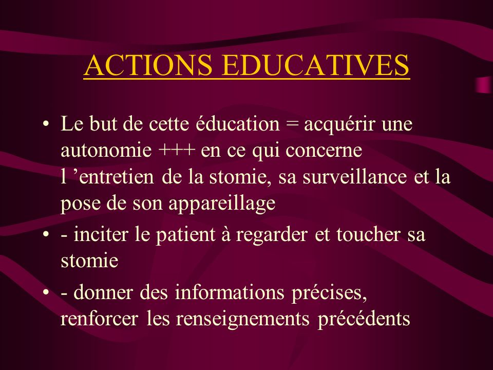 ACTIONS EDUCATIVES
