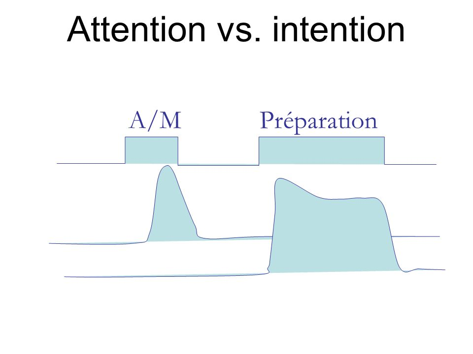 Attention vs. intention