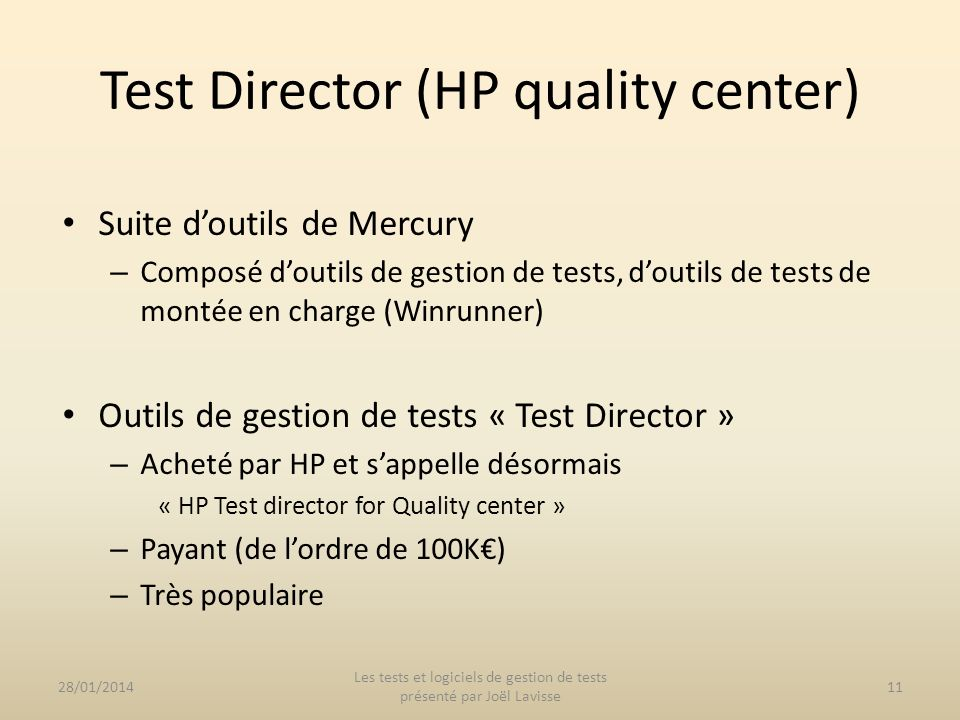 Test Director (HP quality center)